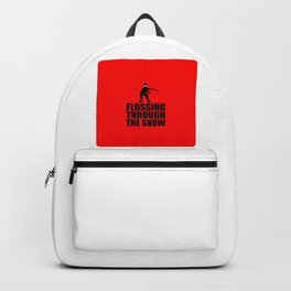 flossing through the snow funny Xmas Backpack