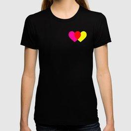 Love hearts (pink & yellow) T-shirt