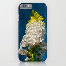 White Foxglove flowers on texture Slim Case iPhone 6s