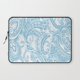 Paisley batik aqua Laptop Sleeve