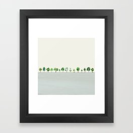 A Row Of Trees Framed Art Print