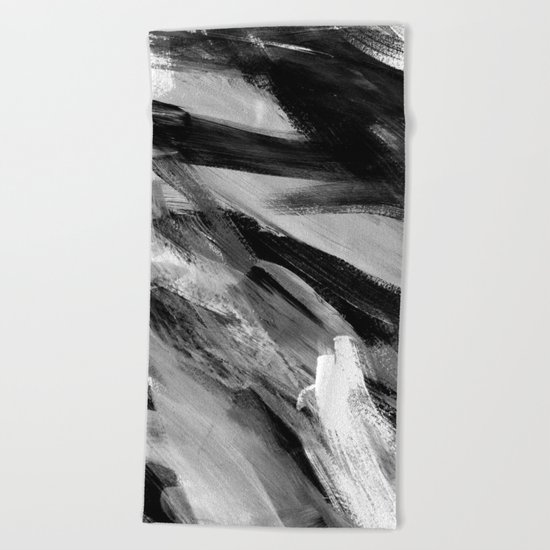 Abstract Artwork Greyscale #1 Beach Towel
