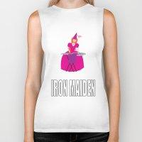 iron maiden Biker Tanks featuring IRON MAIDEN by mangulica