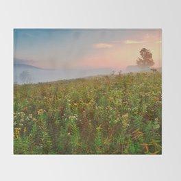 Misty Canaan Valley Sunrise Throw Blanket