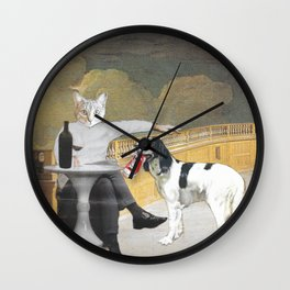 The Difference Between Cats and Dogs II Wall Clock
