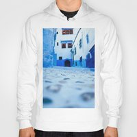 morocco Hoodies featuring Chefchaouen, Morocco by Petrichor Photo