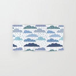 Rainy seamless pattern with clouds Hand & Bath Towel