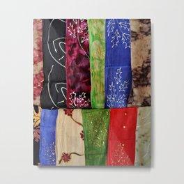 Colorful Scarves Metal Print