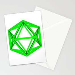 skeletal icosahedron gmtrx Stationery Cards