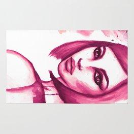Pink hair  Rug