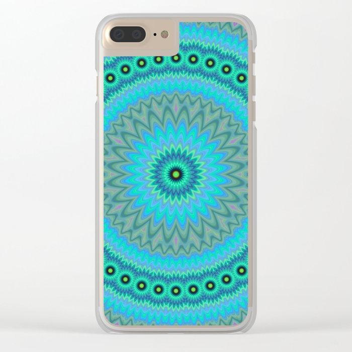 Boho flower mandala Clear iPhone Case
