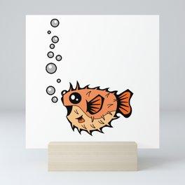 Puffer Bubbles   Animal Series   DopeyArt Mini Art Print