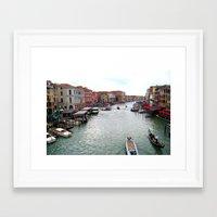 venice Framed Art Prints featuring venice. by zenitt