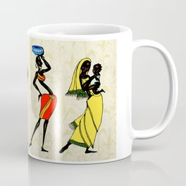 woman ethic african people collage Coffee Mug