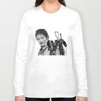 daryl dixon Long Sleeve T-shirts featuring Daryl Dixon by Brittany Ketcham