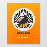 volleyball Canvas Prints featuring Karasuno High Volleyball Club by robin