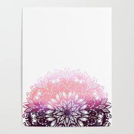 Watercolor Floral Mandala Poster