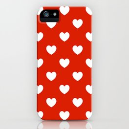 Red & White Hearts iPhone Case
