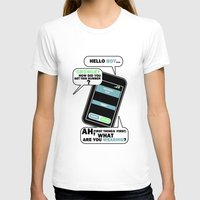 crowley T-shirts featuring What are you Wearing? - Crowley Supernatural by KanaHyde