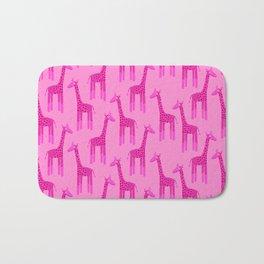 Giraffes-Pink Bath Mat