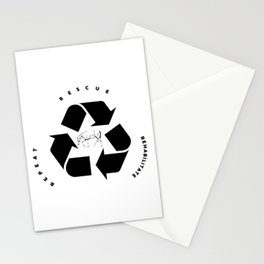 Rescue, Rehabilitate, Repeat Stationery Cards