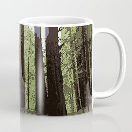 Northern California Redwood Forest Pixelart Coffee Mug