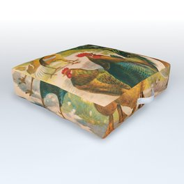 Poultry Parade Outdoor Floor Cushion