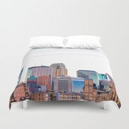 Minneapolis Skyline Duvet Cover