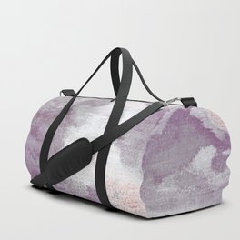Romance: subdued reds, violets, grays, and pink abstract ink spills Duffle Bag