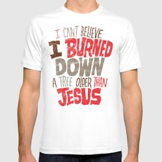Older Than Jesus Mens Fitted Tee White SMALL