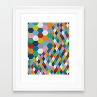 honeycomb Framed Art Prints featuring Honeycomb by Project M