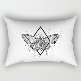 Butterfly Handmade Drawing, Made in pencil and ink, Tattoo Sketch, Tattoo Flash, Blackwork Rectangular Pillow