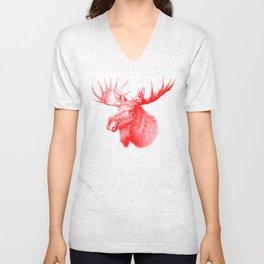 Moose red Unisex V-Neck