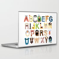 wooden Laptop & iPad Skins featuring Muppet Alphabet by Mike Boon