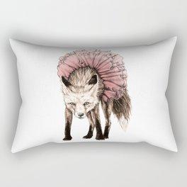 Fox In A Tutu Rectangular Pillow