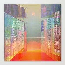 Open Gates / Spatial sluices / Entrance to summer Canvas Print