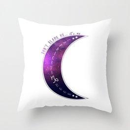 Don't Blame Me...Purple Capricorn Moon Throw Pillow