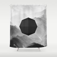 wwe Shower Curtains featuring Octagon by eARTh