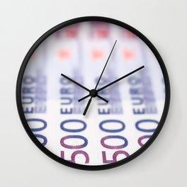 500 Euros Wall Clock