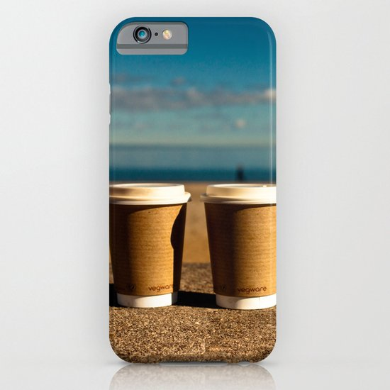 coffee at the beach iPhone & iPod Case
