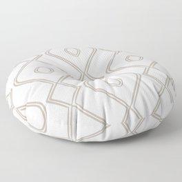 Modern Boho Ogee in Cream Floor Pillow