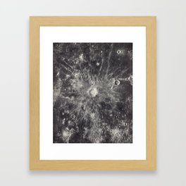 1934 Lunar Detail Framed Art Print