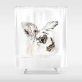 Pixie the Lionhead Rabbit by Teresa Thompson Shower Curtain