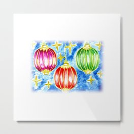 Three oriental lanterns Metal Print