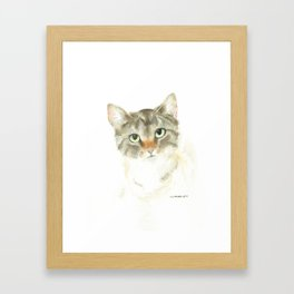 catitude - brown tabby cat Framed Art Print