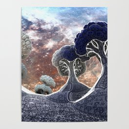 Broccoli Planet in Winter Poster