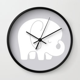 Mod Baby Elephant Grey Wall Clock