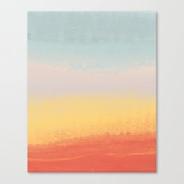 Ceramic Sunset // Multi Color Speckled Drip Summer Beach California Surf Vibes Wall Hanging Design Canvas Print
