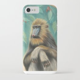 Melancholy Mandrill iPhone Case