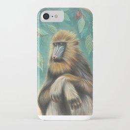 Melancholy Mandrill iPhone Case